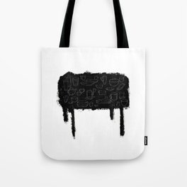 A black table Tote Bag