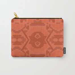 Geometric Aztec in Chile Red Carry-All Pouch