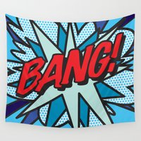 comic book Wall Tapestries featuring Comic Book BANG! by The Image Zone