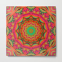 3D color kaleidoscope plus Metal Print
