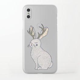 Serene Jackalope Clear iPhone Case
