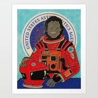 dave matthews Art Prints featuring Dave by Derek Eads