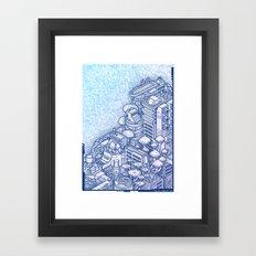 Shroom City Framed Art Print