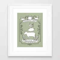 vegetarian Framed Art Prints featuring Vegetarian by Dani Purper