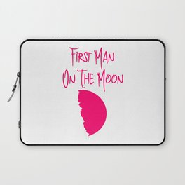 First Man on the Moon 1969 50th Anniversary Quote Laptop Sleeve
