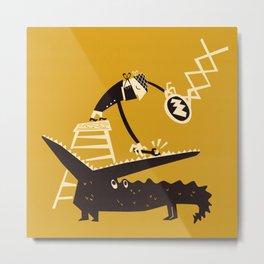 Croc Dentist Metal Print