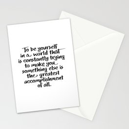 The Greatest Accomplishment - Inspirational Wall Art Stationery Cards