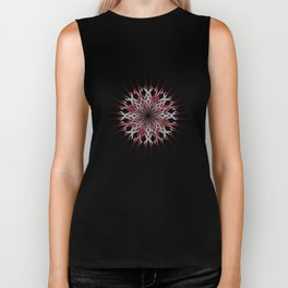 Mandala silver and red Biker Tank