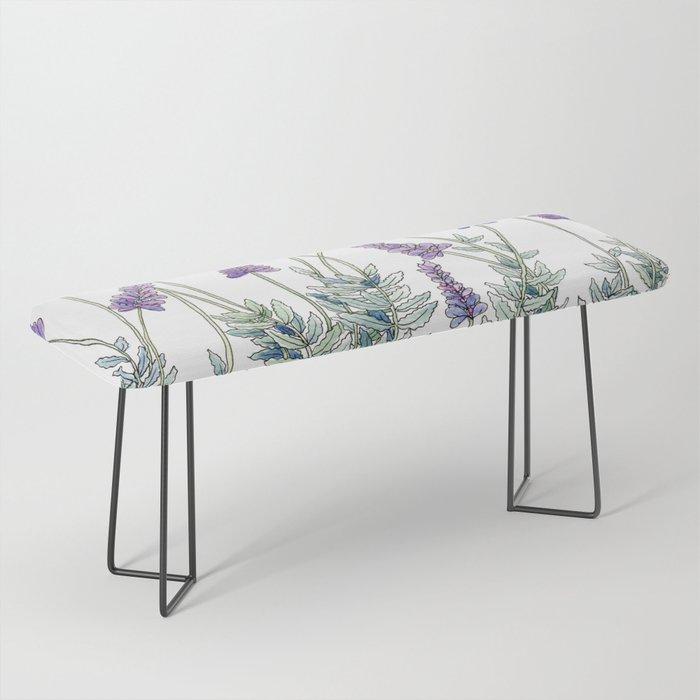 Lavender, Illustration Bench