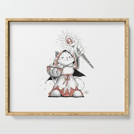 White Mage Munchkin Cat Serving Tray
