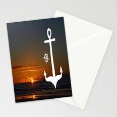Anchors at Sea Stationery Cards