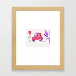 Valentine Delivery Framed Art Print
