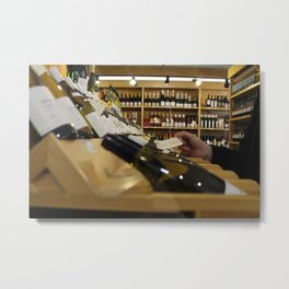 Fish Tacos in a Wine Shop Metal Print