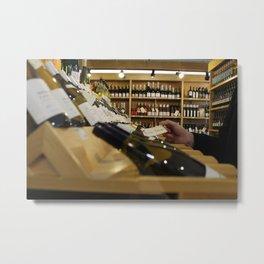 Fish Tacos in a Wine Shop Metal Print
