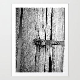 Locking the Past Art Print