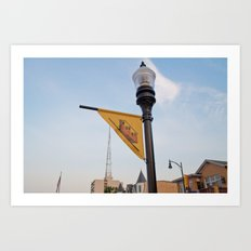 Monogahela Incline flag Art Print
