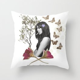 Butterfly Daydreams Throw Pillow