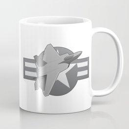 F-22 Raptor Military Fighter Jet Coffee Mug