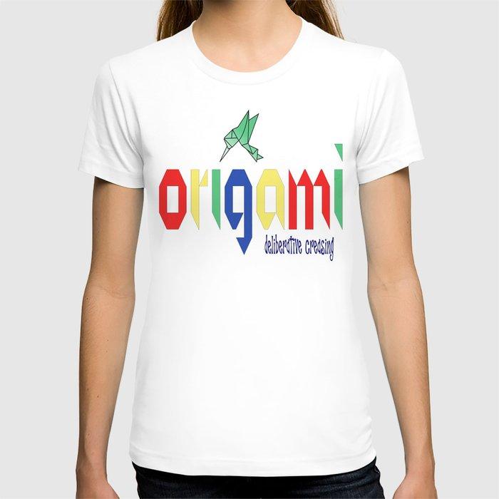 Origami: Deliberative Creasing T-shirt