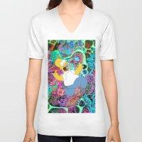 homer V-neck T-shirts featuring HOMER by Fernando P.