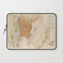 General Map of Cairo, Egypt (1920) Laptop Sleeve