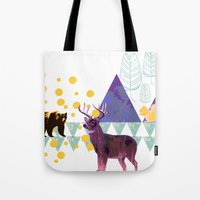 wildlife Tote Bags featuring wildlife by the coulsons