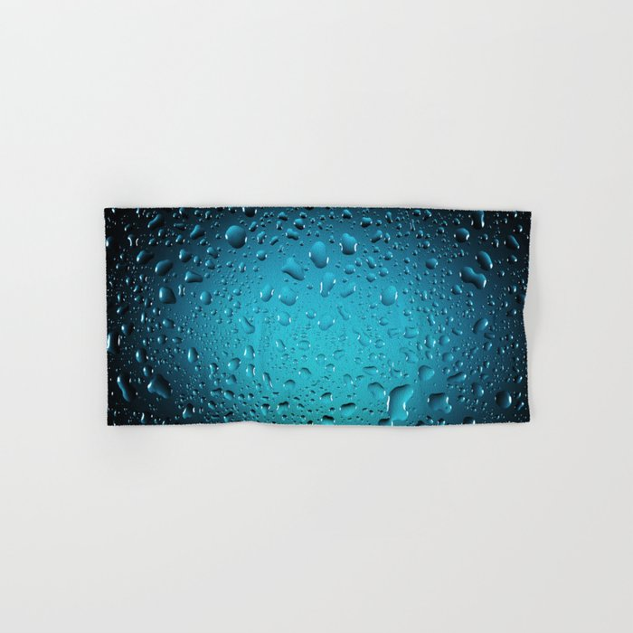 Stylish Cool Blue water drops Hand & Bath Towel