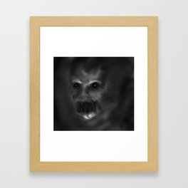 It sees you in the dark Framed Art Print
