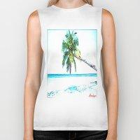 cuba Biker Tanks featuring Cuba , Playa  ( Cuba , beach ) by arnedayan