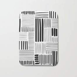 Black and White Abstract Pattern Bath Mat