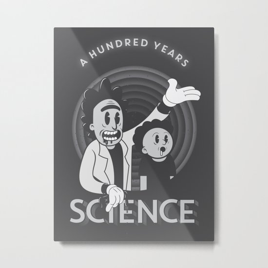 A HUNDRED YEARS SCIENCE Metal Print