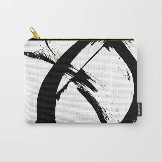 Brushstroke 7: a minimal, abstract, black and white piece by blushingbrushstudio