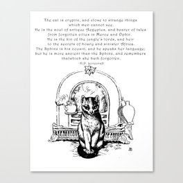 The Cat is Cryptic Canvas Print