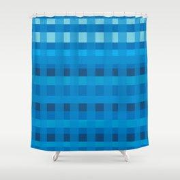 Blue  Plaid Pattern Shower Curtain