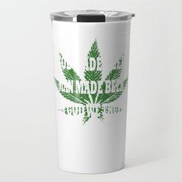 God Made Weed Cbd Lover Gift  Travel Mug