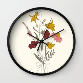 Wildflowers Bouquet Wall Clock