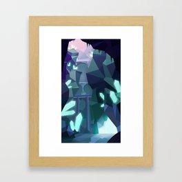 Crystal Caverns Framed Art Print