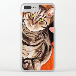 Love Tabbies Clear iPhone Case