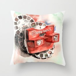 Vintage gadget series: View-Master Model G Throw Pillow