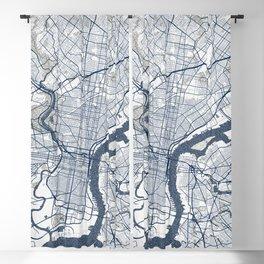Philadelphia City Map of Pennsylvania, USA - Coastal Blackout Curtain