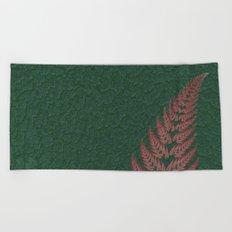 Fall Fern Fractal Beach Towel