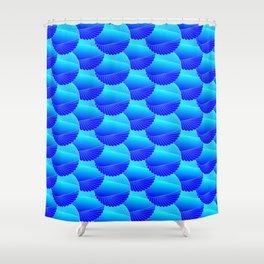 Tropical Holidays - Blue Sea Shells Shower Curtain