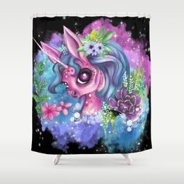 Call me a Unicorn Shower Curtain