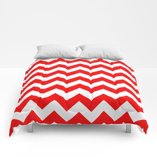 Chevron (Red/White) Comforters