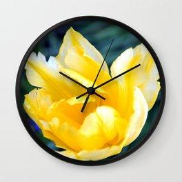 BRIGHT YELLOW TULIP Wall Clock