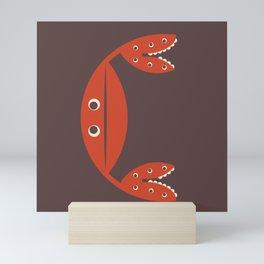 Letter C // Animal Alphabet // Crab Monogram Mini Art Print