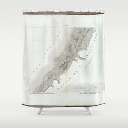 Old Historic State of Palestine Map Shower Curtain