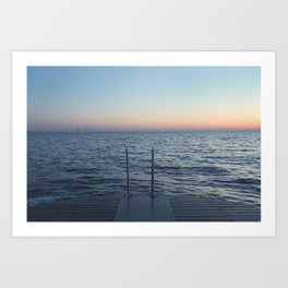 à la mer {to the sea} Art Print