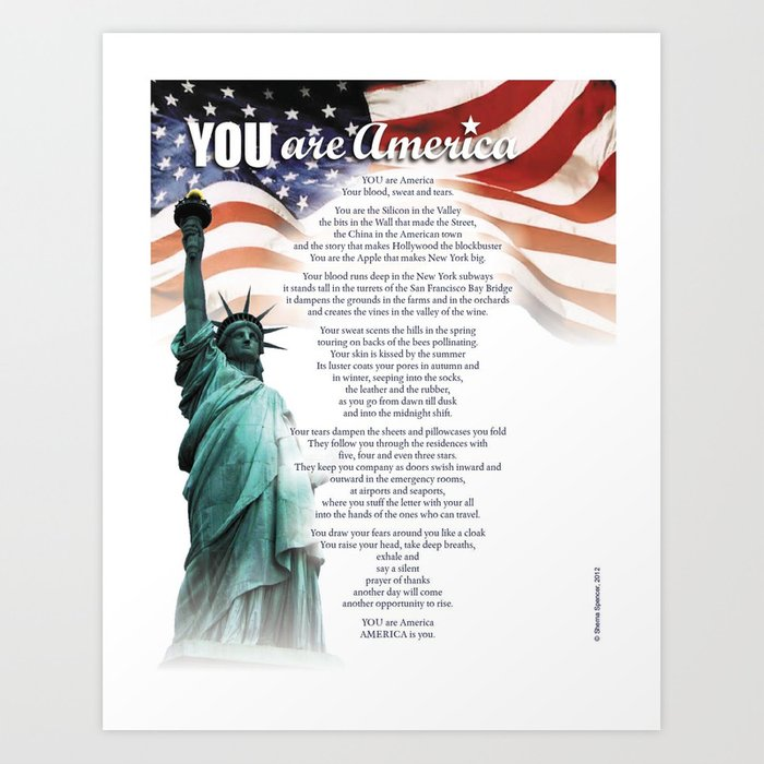 YOU Are America Art Print