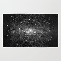 quote Area & Throw Rugs featuring STARGAZING IS LIKE TIME TRAVEL by Amanda Mocci